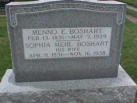 BOSHART, MENNO - Washington County, Iowa | MENNO BOSHART