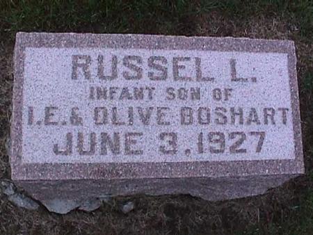 BOSHART, RUSSEL - Washington County, Iowa   RUSSEL BOSHART