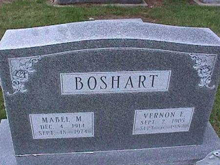 BOSHART, MABEL - Washington County, Iowa | MABEL BOSHART