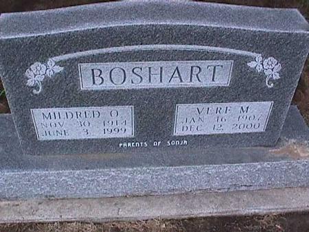 BOSHART, MILDRED - Washington County, Iowa   MILDRED BOSHART