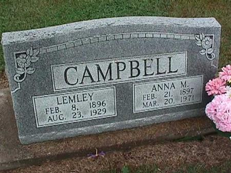 CAMPBELL, ANNA - Washington County, Iowa | ANNA CAMPBELL