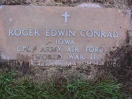 CONRAD, ROGER EDWIN - Washington County, Iowa | ROGER EDWIN CONRAD