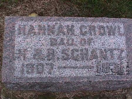 SCHANTZ CROWL, HANNAH - Washington County, Iowa | HANNAH SCHANTZ CROWL