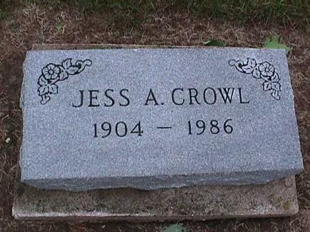CROWL, JESS A. - Washington County, Iowa | JESS A. CROWL