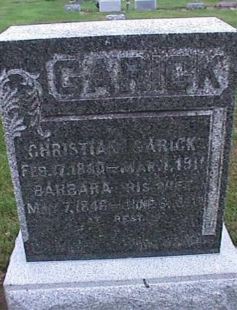 GARICK, CHRISTIAN - Washington County, Iowa | CHRISTIAN GARICK