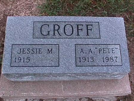 GROFF, JESSIE - Washington County, Iowa | JESSIE GROFF