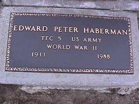 HABERMAN, EDWARD - Washington County, Iowa | EDWARD HABERMAN