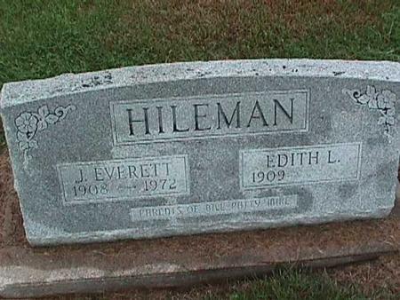 KAUFFMAN HILEMAN, EDITH - Washington County, Iowa | EDITH KAUFFMAN HILEMAN