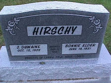 ELDER HIRSCHY, BONNIE - Washington County, Iowa | BONNIE ELDER HIRSCHY