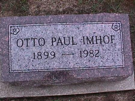 IMHOF, OTTO PAUL - Washington County, Iowa | OTTO PAUL IMHOF