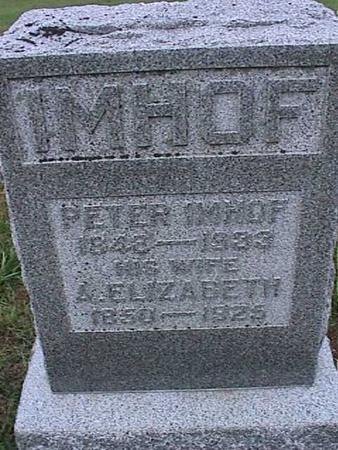 IMHOF, A. ELIZABETH - Washington County, Iowa | A. ELIZABETH IMHOF