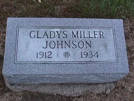 MILLER JOHNSON, GLADYS - Washington County, Iowa | GLADYS MILLER JOHNSON
