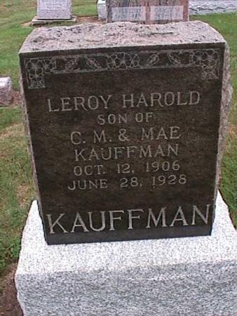 KAUFFMAN, LEROY - Washington County, Iowa   LEROY KAUFFMAN
