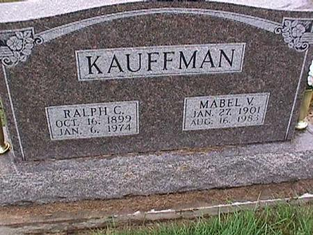 CAMPBELL KAUFFMAN, MABEL - Washington County, Iowa | MABEL CAMPBELL KAUFFMAN