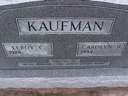 KAUFMAN, LEROY - Washington County, Iowa   LEROY KAUFMAN
