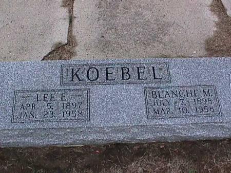 KOEBEL, BLANCHE - Washington County, Iowa | BLANCHE KOEBEL