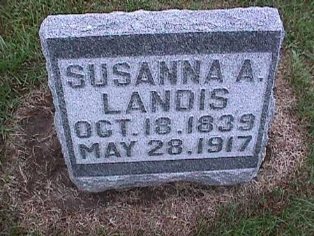 LANDIS, SUSANNA - Washington County, Iowa | SUSANNA LANDIS