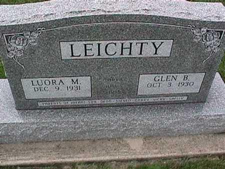 LEICHTY, GLEN - Washington County, Iowa   GLEN LEICHTY