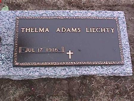 ADAMS LIECHTY, THELMA - Washington County, Iowa | THELMA ADAMS LIECHTY