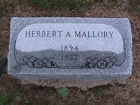 MALLORY, HERBERT - Washington County, Iowa   HERBERT MALLORY