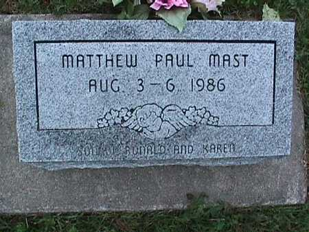 MAST, MATTHEW PAUL - Washington County, Iowa | MATTHEW PAUL MAST