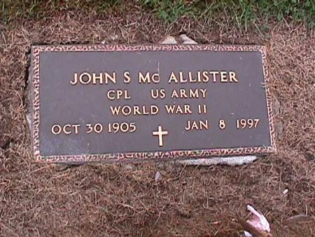 MCALLISTER, JOHN - Washington County, Iowa | JOHN MCALLISTER