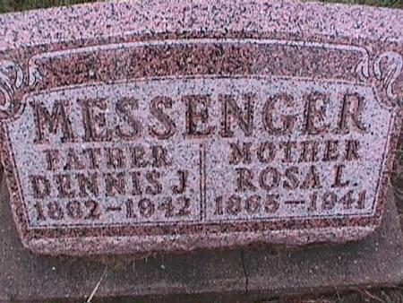 MESSENGER, ROSA - Washington County, Iowa   ROSA MESSENGER