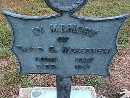 MESSENGER, DAVID - Washington County, Iowa | DAVID MESSENGER