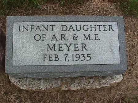 MEYER, INFANT DAUGHTER - Washington County, Iowa | INFANT DAUGHTER MEYER