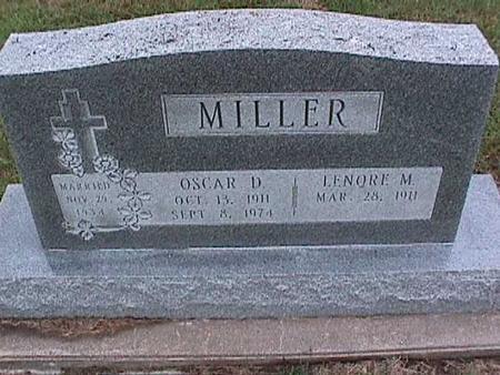 MILLER, OSCAR - Washington County, Iowa | OSCAR MILLER