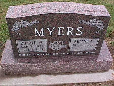 MYERS, DONALD W. - Washington County, Iowa | DONALD W. MYERS