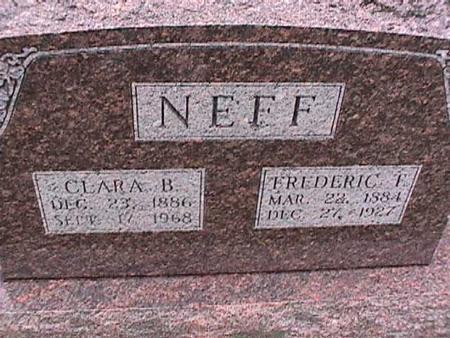 NEFF, FREDERIC - Washington County, Iowa | FREDERIC NEFF