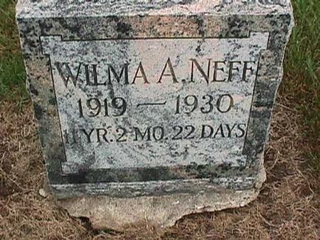 NEFF, WILMA - Washington County, Iowa | WILMA NEFF