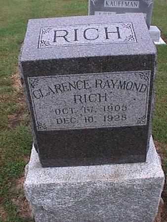 RICH, CLARENCE RAYMOND - Washington County, Iowa   CLARENCE RAYMOND RICH
