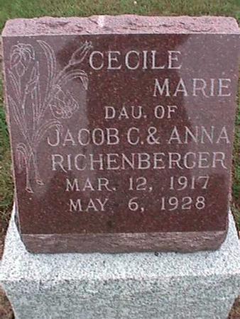 RICHENBERGER, CECILE - Washington County, Iowa | CECILE RICHENBERGER
