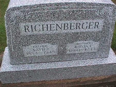 RICHENBERGER, ROSINA - Washington County, Iowa | ROSINA RICHENBERGER