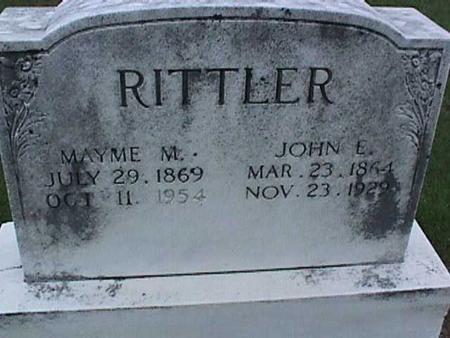 RITTLER, JOHN - Washington County, Iowa | JOHN RITTLER