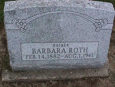 ROTH, BARBARA - Washington County, Iowa | BARBARA ROTH