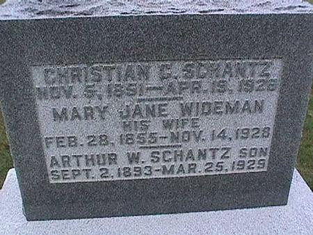 SCHANTZ, MARY JANE - Washington County, Iowa | MARY JANE SCHANTZ