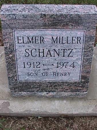SCHANTZ, ELMER MILLER - Washington County, Iowa   ELMER MILLER SCHANTZ