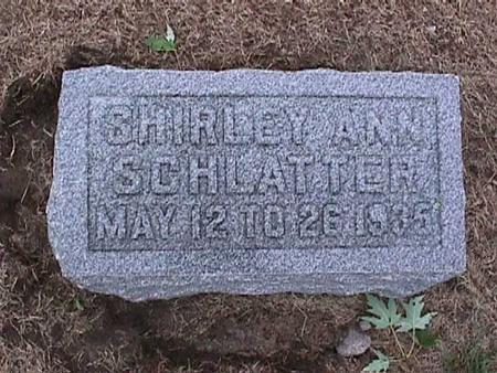 SCHLATTER, SHIRLEY ANN - Washington County, Iowa | SHIRLEY ANN SCHLATTER