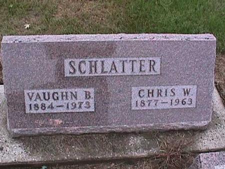 SCHLATTER, CHRIS - Washington County, Iowa | CHRIS SCHLATTER