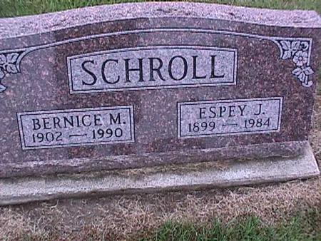 SCHROLL, ESPEY - Washington County, Iowa | ESPEY SCHROLL