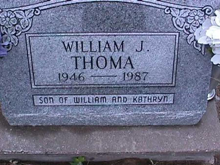 THOMA, WILLIAM J. - Washington County, Iowa   WILLIAM J. THOMA