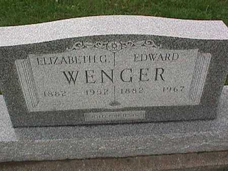 WENGER, ELIZABETH - Washington County, Iowa | ELIZABETH WENGER