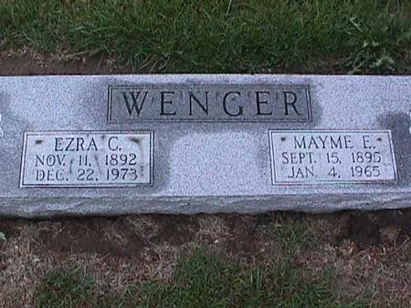 WENGER, MAYME - Washington County, Iowa | MAYME WENGER