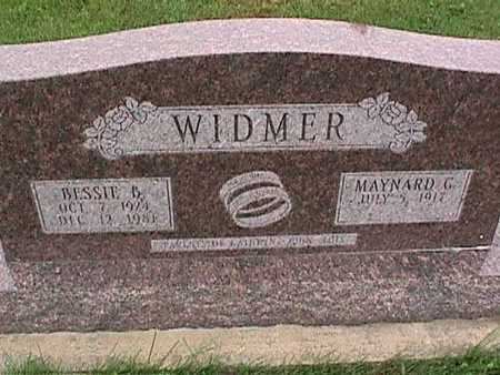 WIDMER, BESSIE - Washington County, Iowa | BESSIE WIDMER
