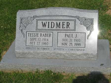 RABER WIDMER, TESSIE - Washington County, Iowa | TESSIE RABER WIDMER
