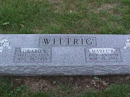 WITTRIG, EDWARD - Washington County, Iowa | EDWARD WITTRIG