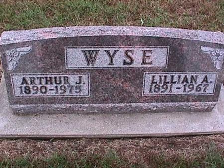 WYSE, ARTHUR - Washington County, Iowa   ARTHUR WYSE